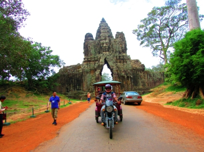 South gate of Angkor Thom.