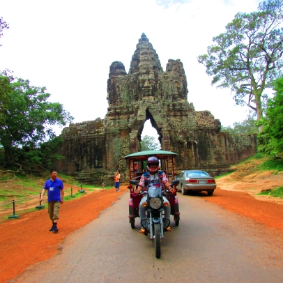 South gate of Angkor Thom.