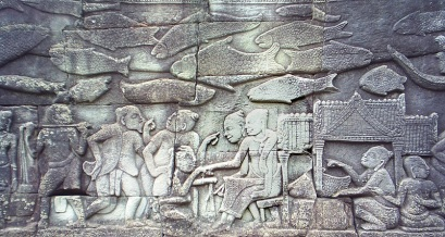 Bas relief in Bayon Temple.