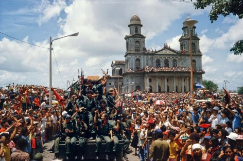Sandinista forces arrive in Managua, 1979.