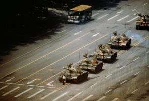 Tank Man, Tiananmen Square, 1989.
