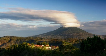 Nicaragua has many active volcanoes.