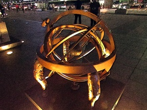 An armillary sphere for modeling celestial motion, developed under King Sejong.