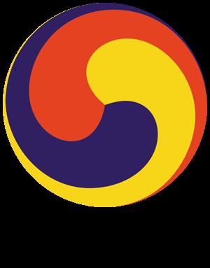 Samtaegeuk, a traditional Korean symbol reflecting the balance of pungsu.