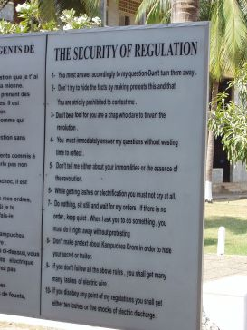 The rules of Tuol Sleng.