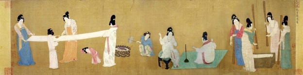 Court Ladies of the Tang Dynasty Producing Silk.