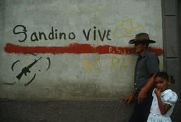 Sandinista graffiti in modern Nicaragua.