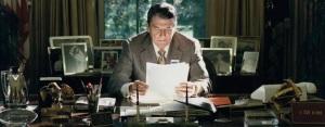 U.S. President Ronald Reagan.