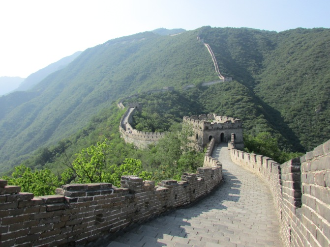 The Great Wall of China, near Beijing.
