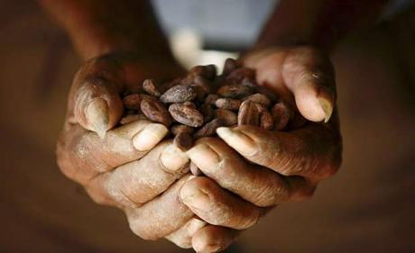Cocoa beans as currency.