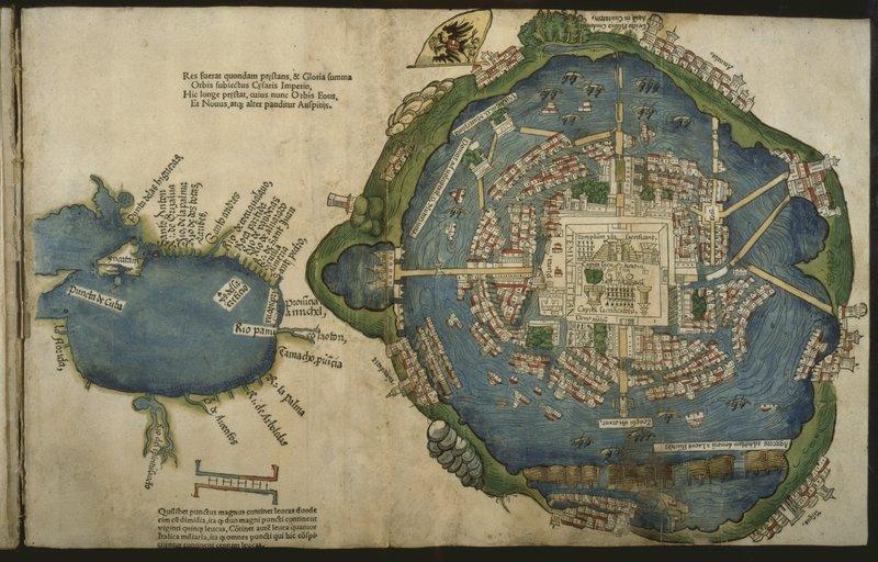 Cortés_ 1524 Map of Tenochtitlan