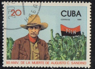 Postage stamp issued in Castro's Cuba, 1984.