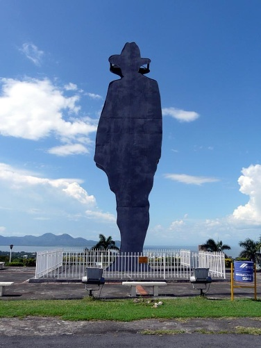 Sandino's 59-foot silhouette at Tiscapa Lagoon in Managua is instantly recognizable by his emblematic broad-brimmed hat.