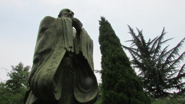 Modern statue of Confucius at a university in Shanghai.