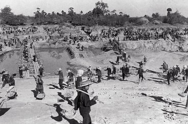 Forced labor camp in Kampong Cham, Cambodia.