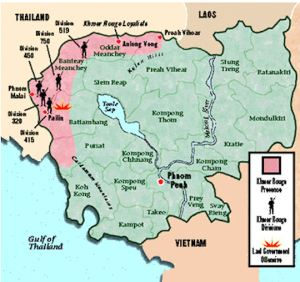 The Khmer Rouge continued to control portions of Cambodia well into the 1990s.