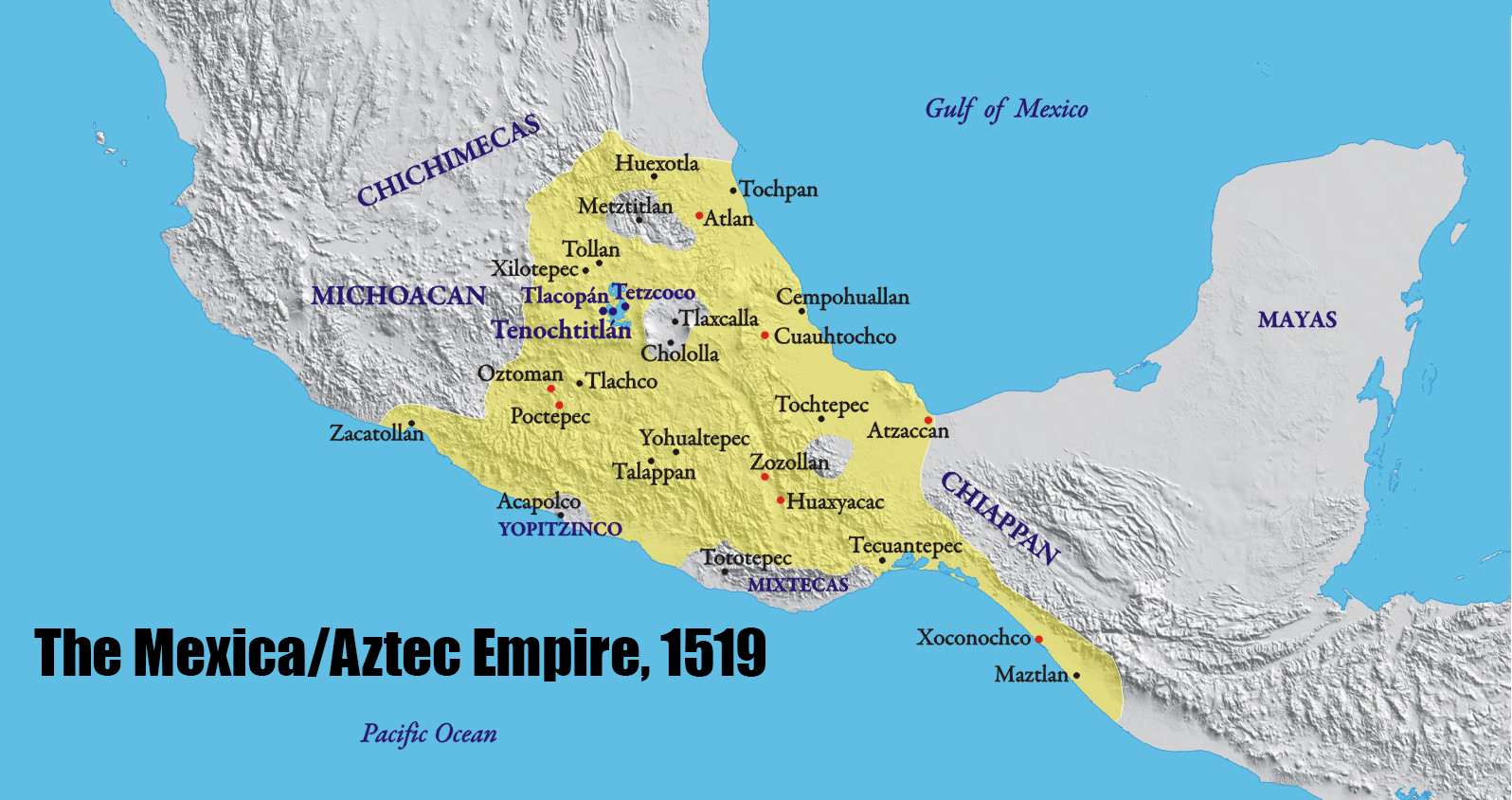 Aztec Empire Map map of the Aztec Empire in 1519 CE 57962176 – open ended social  Aztec Empire Map