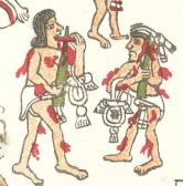 Mexica priests perform acts of self-sacrifice.