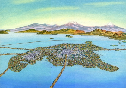 Tenochtitlan, the home of the Mexica, 1519.