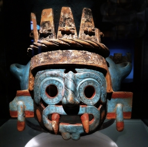 Tlaloc, supreme god of the rains, he was also by extension a god of fertility and of water. He was widely worshipped as a beneficent giver of life and sustenance, but he was also feared for his ability to send hail, thunder, and lightning, and for being the lord of the powerful element of water.