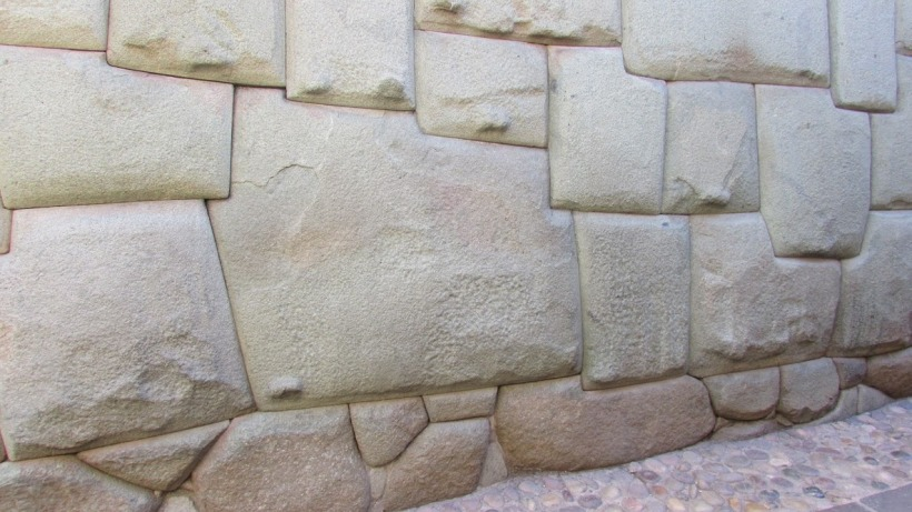 Twelve angle stone, in the Hatun Rumiyoc street of Cusco, is an example of Inca masonry.