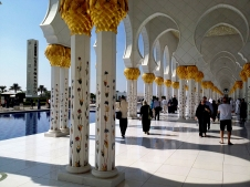 There are more than 1000 columns in the grand mosque, each inspired by the shape of a palm tree and meant to recall the life-giving date palms of Medina, the Prophet's city.