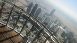 The view from the 125th story of the Burj Khalifa looks like something out of a science fiction movie set in the not-too-distant future. Real estate is another booming sector of the Emirati economy.