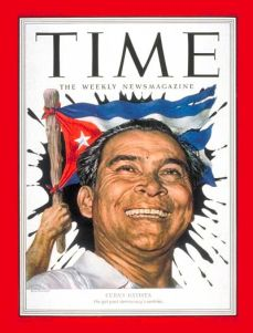 Batista following his coup on the cover of Time Magazine, April 1952.