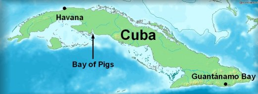 The Bay of Pigs, southern Cuba.