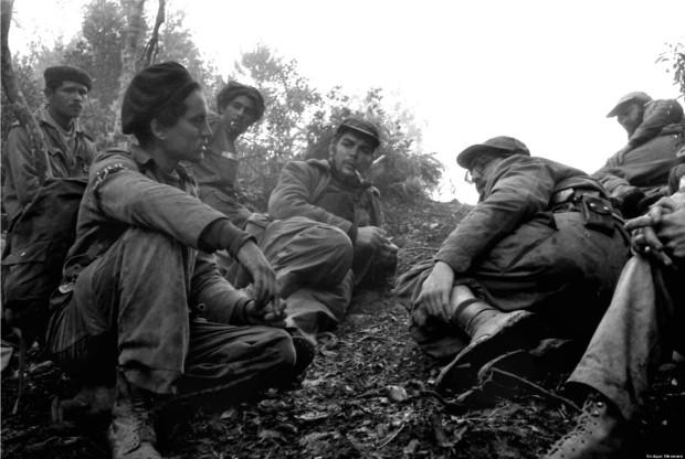 The Cuban Revolution. Fidel Castro (Right) And Che Guevara (Center)