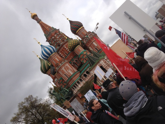 Victory Day is May 9 in Russia - a national holiday commemorating the defeat of Nazi Germany on that date in 1945. It is marked annually by large scale military parades and a massive revival of Soviet symbolism such as red stars, victory medals, and the March of the Immortal Regiment commemorating veterans and fallen ancestors who participated in the Great Patriotic War.