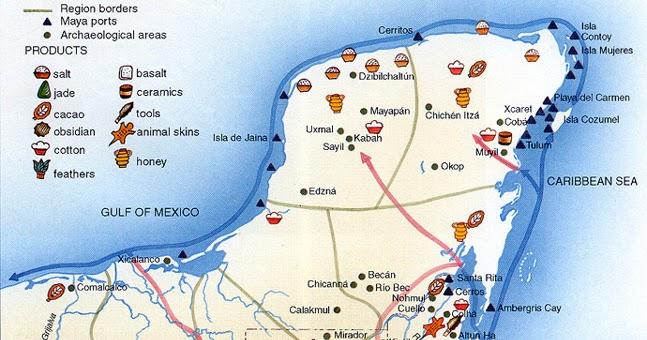 Image result for maya trade routes