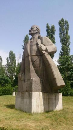 A statue of Lenin in Sofia, Bulgaria.