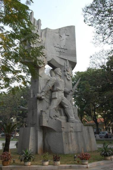 A communist influenced monument in Vietnam.