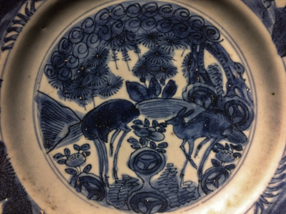 Recovered from the San Diego was this part of a larger, mass produced set of Chinese porcelain with a deer motif - each hand painted, varying organically, but following the same design. (Manila, Philippines, 2018.)