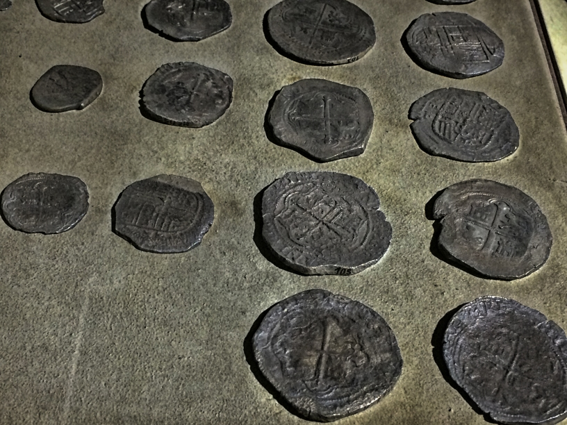 Also aboard the San Diego were these silver coins were mined and minted in Potosi, in modern day Bolivia. (Manila, Philippines, 2018.)