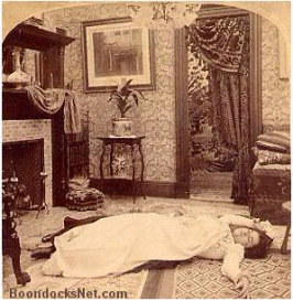 Sad News from the Battle-field -- Jack has fallen at Manila. Underwood & Underwood, 1899.