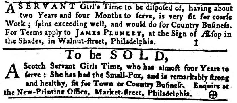 Pennsylvania-Gazette-11-25-1762-5-indentured-girls