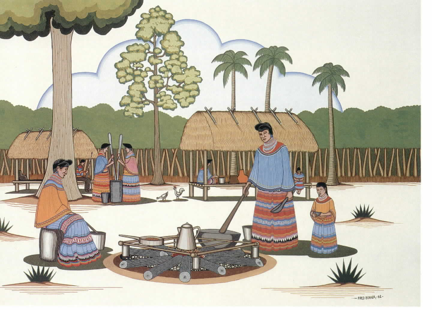 Seminole village