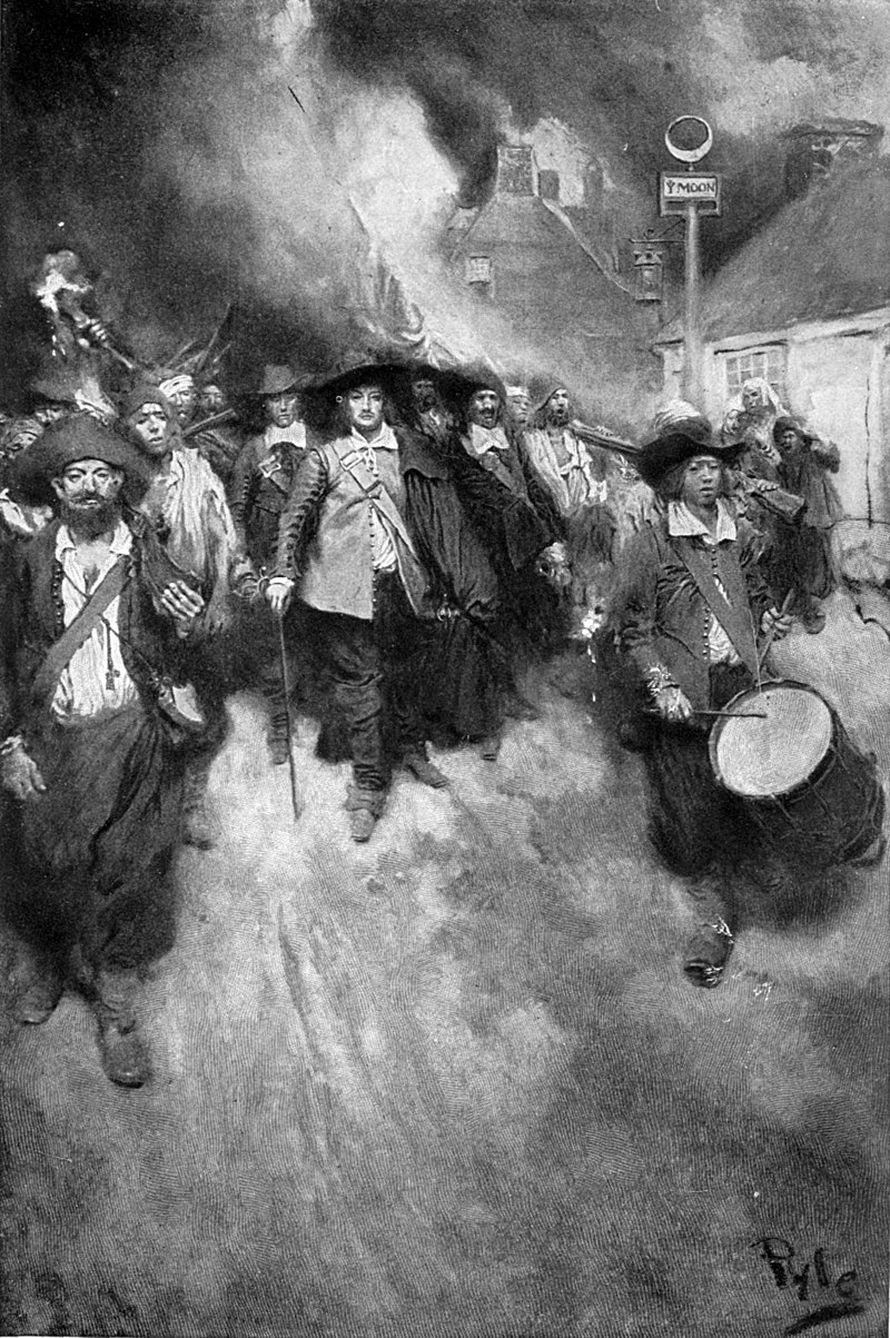 The Burning of Jamestown by Howard Pyle, c. 1905