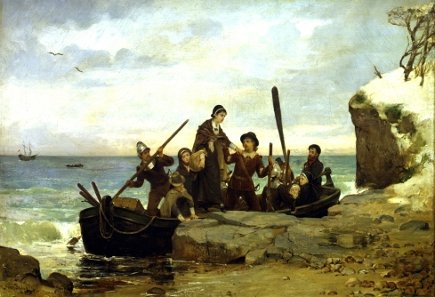 The Landing of the Pilgrims, by Henry A. Bacon, 1877.