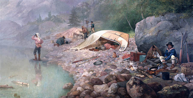 Voyageurs at Dawn, 1871 by Frances Anne Hopkins (1838–1919)