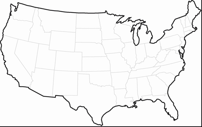 state outlines Fresh United States America USA Free Maps Blank In Us Map State