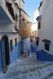 Since there are few to no vehicles in the medina, the streets are designed for human traffic - stairways are common in mountain towns.