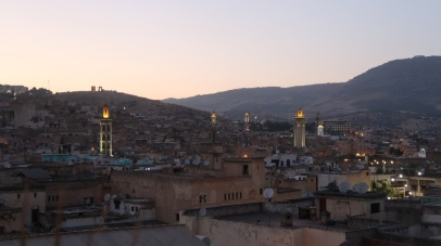 Mosques - identifiable by their lighted minarets - serve each neighborhood within a medina, offering a space to pray, socialize, connect, and to resolve dispute with the community.