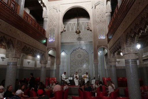 This restaurant in modern day Fez was once a fantastic private residence - built and maintained by wealth hard-earned in the trans-Saharan trade.