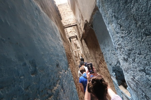 At their narrowest, the streets of the medina can be narrower than the hallway in your house. Extended families might build passover hallways to join two households across the street.