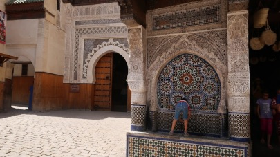 For hundreds of years before running water was widely available to every home, Moroccan rulers built fountains at close intervals throughout the medina - fed sometimes by springs, sometimes by aqueducts carrying clean water from distant mountains to the corner by your house.