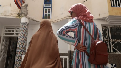 Many women cover their heads in accordance with Muslim tradition, but many more do not.